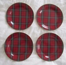 NOS Williams Sonoma TARTAN Salad Dessert Christmas Plates !!! FREE SHIPPING!!!