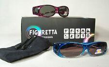 Figuretta Sonnen- Überbrille UV 400 Polarisiert f. Brillenträger Polbrille aqua