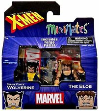 MARVEL MINIMATES SERIES 60 WOLVERINE & THE BLOB 2-PACK NEW IN BOX #snov15-691