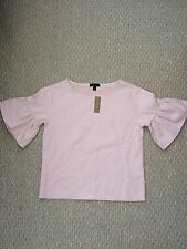 New J.Crew Ruffle Sleeve Top Pale Lilac Size XXS Current!
