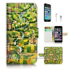 iPhone 7 (4.7') Flip Wallet Case Cover P3068 Country Paint