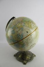 "Globemaster 12"" Repogle Raised Relief Globe Nautical Brass Base"