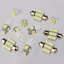11X White LED Lights Car Interior Package for T10 & 31mm Map Dome License Plate