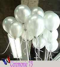 LOT DE 20 BALLONS BLANCS NACRES DECORATION MARIAGE BAPTEME FETE