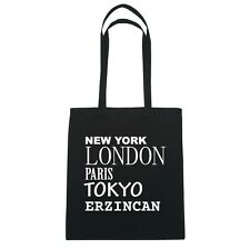 New York, London, Parigi, Tokyo ERZINCAN - Borsa Di Iuta Borsa - Colore: nero