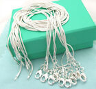 "10pcs Lots Wholesale Silver plated 1.2MM Snake Chain Necklace 16""-24"" A+++"