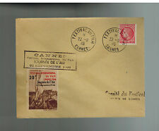 1946 France Cannes Film Festival Air Rally Cover 20 Franc Cinderella