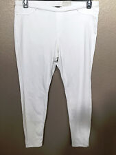 (NWT) Hue Womens White Original Jeans Solid Color Leggings Size XXL