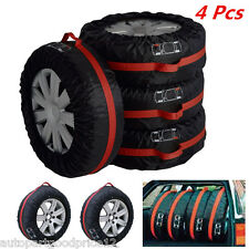 "4pc Portable Auto Seasonal Spare Tyre Protection Cover 16""-22"" Tire Storage Bags"
