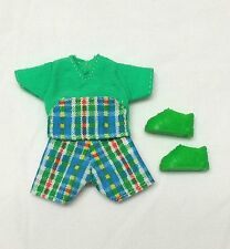 Kelly Tommy Ryan Doll Clothes Green Plaid Tartan Print Outfit + Shoes New