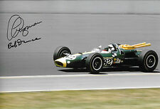 12x8 Jim Clark,  Lotus-Ford 38/1 , Indy 500 SIGNED by Clive Chapman & Bob Dance