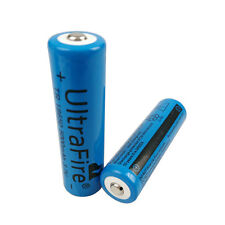 2X 18650 5000mAh 3.7V Li-ion Rechargeable Battery for UltraFire Torch Flashlight