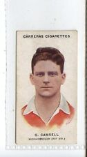 (Jc4989-100)  CARRERAS,FOOTBALLERS (SMALL),G.CAMSELL,MIDDLESBROUGH,1934,#18