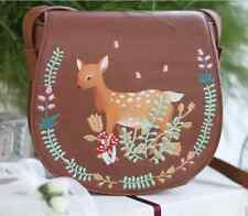 New Autumnal Cute Brown Fawn Deer Satchel Messenger Bag Handbag Shopping Bag
