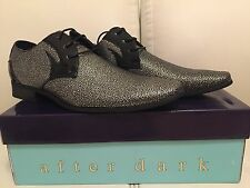 New Mens dress shoes Gold & Silver Speckled Oxford Tuxedo Wedding Prom shoes