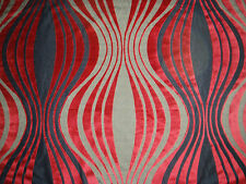 "HARLEQUIN CURTAIN/UPHOLSTERY CUT VELVET FABRIC  ""Integrity"" 4.3 METRES CHERRY"