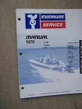 1978 Evinrude Outboard Motor 2 HP Model 2802 Service Manual Boat Marine Engine S