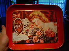Nice nos Drink Coca Cola Rose Girl tray sign Nashville Tenn Tn LOOK