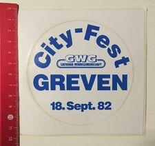 Aufkleber/Sticker: GWG Grevener Werbegemeinschaft - City-Fest Greven (090616127)