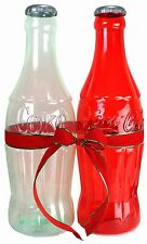 2 Coca Cola COKE Bottle Banks 1 RED 1 CLEAR HUGE Bottles FREE Ship Best Price!