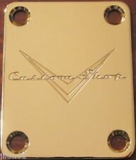 NECK PLATE CUSTOM SHOP - gold - pour guitare, basse.