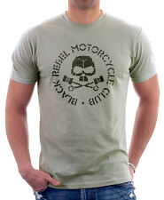 BLACK Rebel Motorcycle Club SOCAL BRMC ZINCO GRIGIO T-SHIRT STAMPATA tc09764