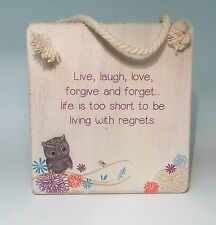 Life's A Hoot Live, Laugh, Love Friendship Plaque Gift Ideas for Her Birthdays