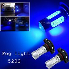 10K Blue PS24WFF 5202 COB HID LED Projector Bulbs For Fog Lamp Daytime Lights