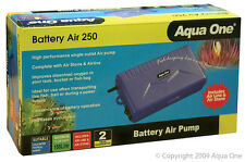 Aqua One A1-10023 Battery Air 250 Air Pump 150L/h for Aquariums, Marine Tanks