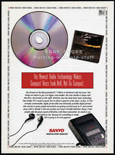 SANYO MINIDISC PLAYER__Original 1993 Trade Print AD promo_poster__Portable Audio