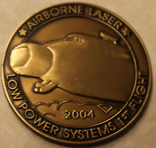 Airborne YAL-1 Laser Program Low Power 1st Flight 2004 Air Force Challenge Coin