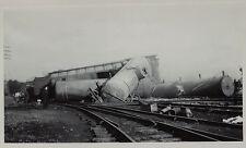 PHOTO  Lot of  5 - Railroad Train Wreck - Attica NY 1949   Erie RR