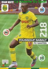 327 YOUSSOUF SABALY FRANCE FC.NANTES CARD UPDATE ADRENALYN 2016 PANINI