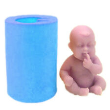 3D Baby Silicon Mold Soap Clay Chocolate Fondant Birthday Cake Decor
