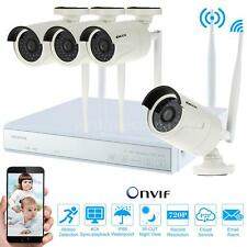 4CH 720P Wireless WIFI 4pcs IP Camera Security System 4CH NVR KIT Outdoor P2P US