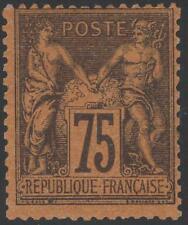 """FRANCE STAMP TIMBRE N° 99 """" SAGE 75c VIOLET SUR ORANGE """" NEUF xx A VOIR K345"""