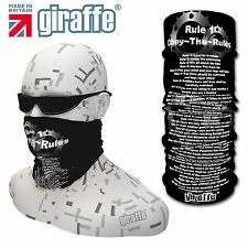 G462 Obey the cycle rules  Multifunctional Headwear Snood Bandana Headband Tube