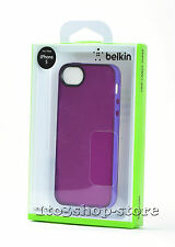 Belkin Grip Candy Sheer Hard Shell Case Cover for iPhone se 5s 5 purple & Violet