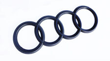 Audi Rings Matte Black Trunk Rear A3 S3 A4 S4 RS4 A5 S5 A6 S6 TT Badge Emblem