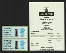 TROLLOPE APRIL MACHIN BPMA  2nd CLASS Ma12 PAIR B4GB15 Post & Go with RECEIPT