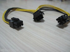 6p female To Dual 6P male pci-e PCI Express graphics Video Card Power PSU Cable