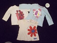 3 x Baby T-Shirts - Next, Nutmeg, Mini B - 0-3 months