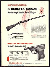 1957 BERETTA Jaguar Shotgun and Featherweight Pocket PistolL AD