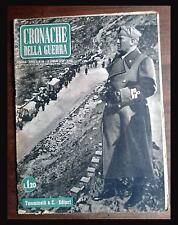 RIVISTA CRONACHE DELLA GUERRA - WW2 - N. 28 1940 guerre mondiali WAR MILITARE