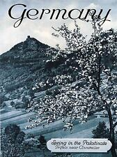 TRAVEL TOURISM GERMANY SPRING PALATINATE BLOSSOM TREE MOUNTAIN POSTER LV4175