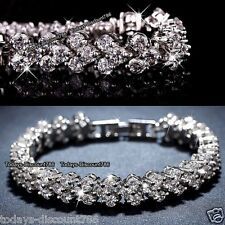 BLACK FRIDAY DEALS Silver Crystal Diamond Tennis Bracelet Xmas Gift For Her Wife
