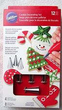 Wilton 12 Piece Cupcake Frosting Xmas Cookie Decorating Set Kit Tips Bags NEW