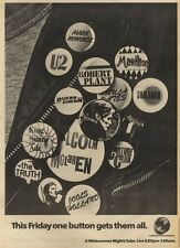 25/6/83PN20 ADVERT: A MIDSUMMER NIGHTS TUBE GREAT ACTS-CHANNEL 4 15X11