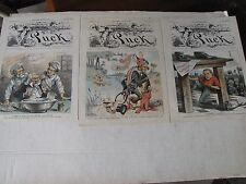 3-1886 Political Lithographs from Puck Uncle Sam, Civil Service Reform, Jingo