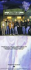 "The Allman Brothers Band ""An evening with . First set"" Neun Live-Songs! Neue CD!"